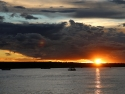 Solnedgang på Zambezi